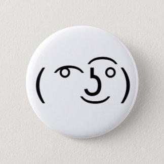 (͡°͜ʖ͡°) das ein gruseliger Emoticon Runder Button 5,7 Cm