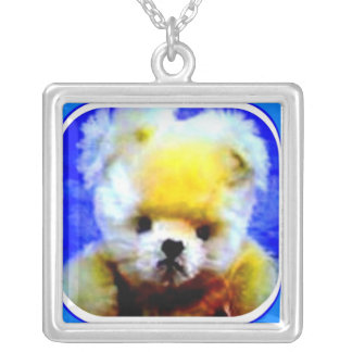 εїз✿♥Çütê Teddybear Sterlingsilber Necklace♥✿εїз Versilberte Kette