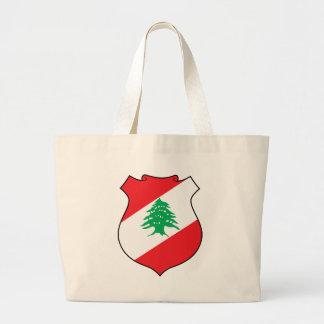 شعارلبنان libanesisches Emblem - Wappen der Jumbo Stoffbeutel