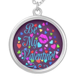 ஜ♥Be mein Valentinsgruß Яömǻñtî¢ silbernes Versilberte Kette