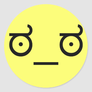 ಠ_ಠ Blick Text-Kunst-lustigen des Gesichtes der Runder Aufkleber