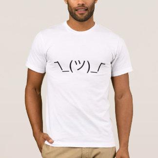 ¯ \ _(ツ) _/¯ Smugshrug festes Schwarzes T-Shirt