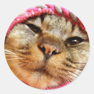 ピンク帽子のチャド RUNDER AUFKLEBER