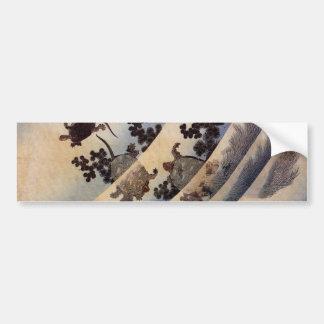 亀, 北斎 Schildkröten, Hokusai, Ukiyo-e Autoaufkleber