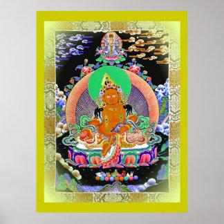 傳承黃財神 Abstammungs-Gelb Jambhala Plakat