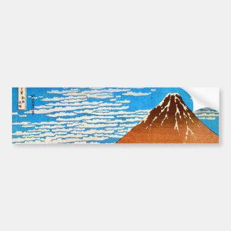 凱風快晴 (赤富士), 北斎 der rote Fujisan, Hokusai, Ukiyo-e Autoaufkleber