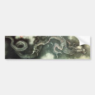 北斎の龍, 北斎 Hokusai Drache, Hokusai, Kunst Autoaufkleber