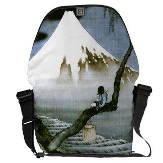 北斎 Junge u. schöne Kunst Mt Fuji Kuriertasche