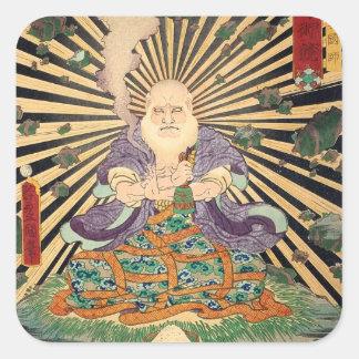奇術師, 豊国 Magier, Toyokuni, Ukiyo-e Quadrataufkleber