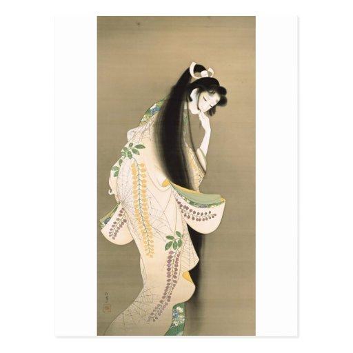 女の幽霊, 上村松園 Dame Ghost, Uemura Shōen, Japan-Kunst Postkarte