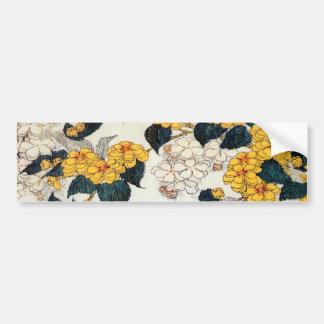 山吹, 北斎 gelbe Blume, Hokusai, Ukiyo-e Autoaufkleber