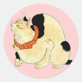 日本猫 国芳 japanische Katze Kuniyoshi Ukiyo-e Sticker