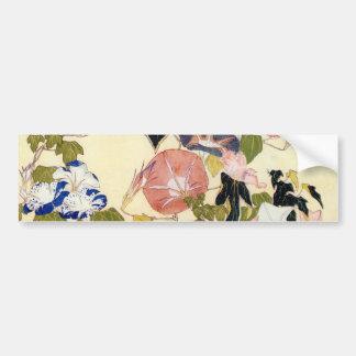 朝顔, 北斎 Winde, Hokusai, Ukiyo-e Autoaufkleber
