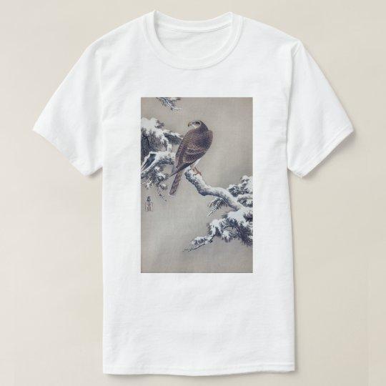 松に鷹, 古邨 Falke auf Kiefer, Ohara Koson, Holzschnitt T-Shirt