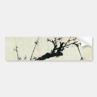 梅花, 北斎 Pflaume blüht, Hokusai, Ukiyo-e Autoaufkleber
