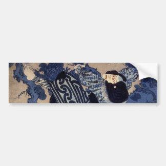 歌舞伎役者, 国芳 Kabuki Schauspieler, Kuniyoshi, Ukiyo-e Autoaufkleber