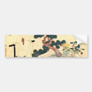 盆栽, 北斎 Bonsai, Hokusai, Ukiyo-e Autoaufkleber