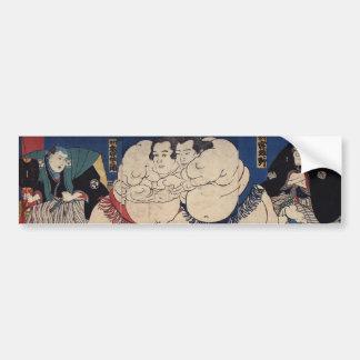 相撲, 国芳 Sumo-Wrestling, Kuniyoshi, Ukiyo-e Autoaufkleber
