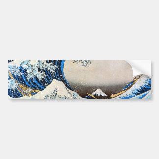 神奈川沖浪裏, 北斎 große Welle, Hokusai Auto Sticker
