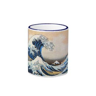 神奈川沖浪裏, 北斎 große Welle, Hokusai Ringer Tasse