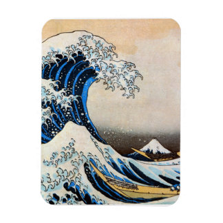 神奈川沖浪裏, 北斎 große Welle, Hokusai, Ukiyo-e Recchteckiger Magnet
