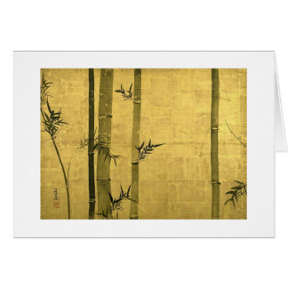 竹図, 光琳 Bambus, Ogata Kōrin, Sumi-e Karte