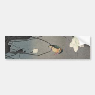 蓮にカワセミ, 古邨 Eisvogel auf Lotus, Koson, Ukiyo-e Autoaufkleber