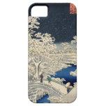 雪の太鼓橋, 広重 Snowy-Trommelbrücke, Hiroshige, Ukiyo-e iPhone 5 Etui