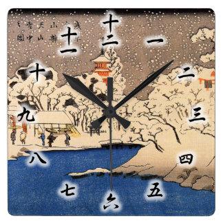 雪 浅草 国芳 Snowy Asakusa Kuniyoshi Ukiyo-e Uhren