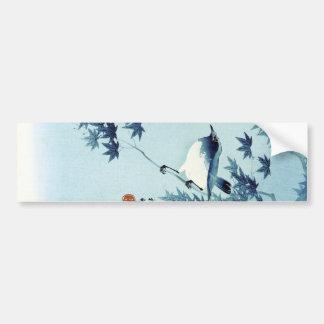 青い鳥, 古邨 Vogel im Blau, Koson, Ukiyo-e Autoaufkleber
