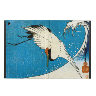 鶴と波, Kran u. Welle, Hiroshige, Ukiyo-e