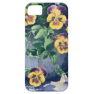 0011 Stiefmütterchen im Pflanzer iPhone 5 Etui