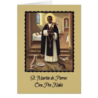 0029 St Martin de Porres Gruß-Karte mit Gebet Karte