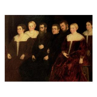 00409 sieben Mitglieder der Soranzo Familie Postkarte