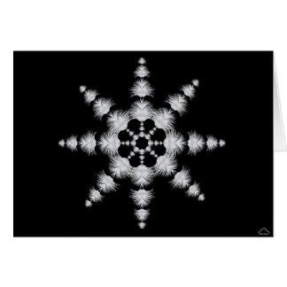 0101 Pfau-Schneeflocke 1, Anmerkungs-Karte Grußkarte