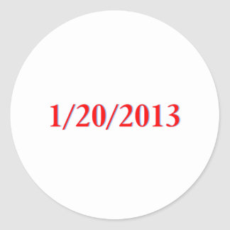 01/20/2013 - Obamas letzter Tag als Präsident Runder Aufkleber