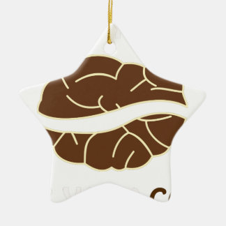 01-Grab Ihr Tasse Kaffeeschwarzes 2 Keramik Stern-Ornament