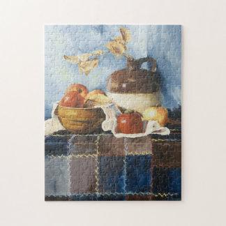 0541 Äpfel u. Tonwaren-Stillleben auf Puzzle