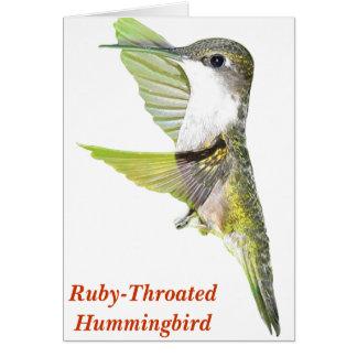 07-20-06 Hummingbirds0033ac, Rubin-Throated Humm… Karte