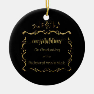 09066Bachelors von Künsten in der Musik schloss ab Keramik Ornament