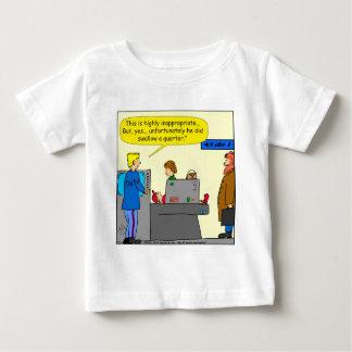 094 schluckte er einen ViertelCartoon 2016 Baby T-shirt