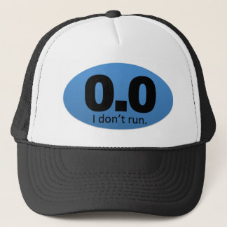 0,0 Ich laufe nicht Truckerkappe