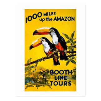 1000 Meilen herauf das Vintage Reise-Plakat Postkarten