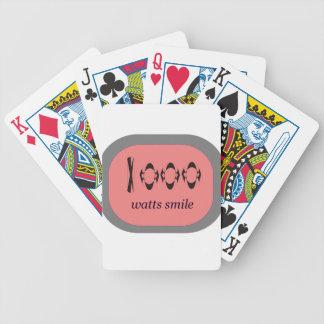 1000 Watt Lächeln Bicycle Spielkarten