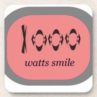 1000 Watt Lächeln Getränkeuntersetzer