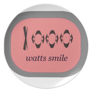 1000 Watt Lächeln Melaminteller