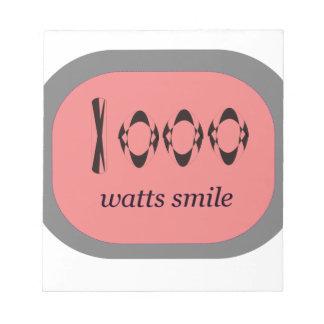 1000 Watt Lächeln Notizblock