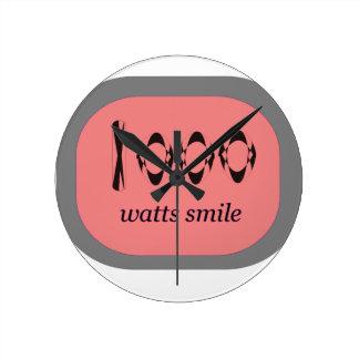 1000 Watt Lächeln Runde Wanduhr