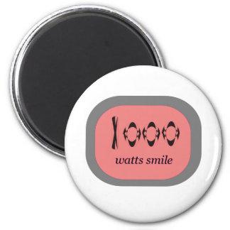 1000 Watt Lächeln Runder Magnet 5,7 Cm
