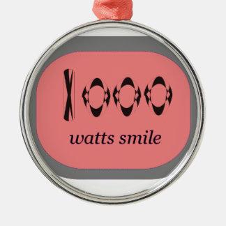 1000 Watt Lächeln Silbernes Ornament